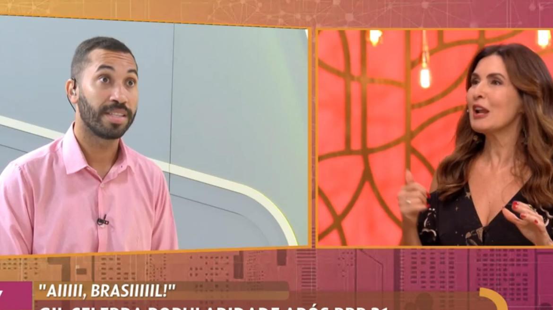 Gilberto esteve no Encontro com Fátima e contou o que a Globo não mostrou no especial do BBB 21 (imagem: reprodução/ Globo)