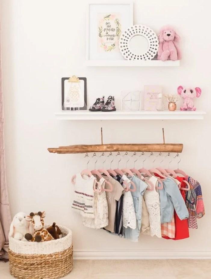 Decoração rústica para closet.