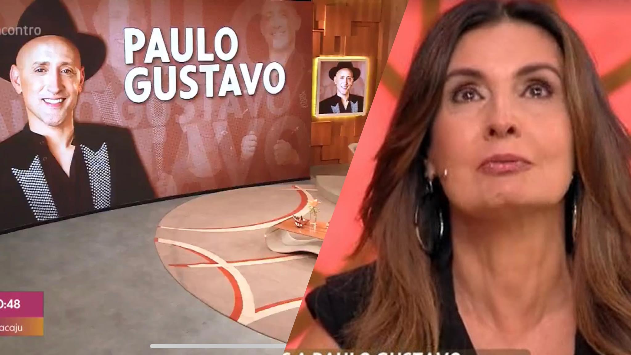 Fátima Bernardes se emociona ao falar da morte de Paulo Gustavo (montagem: Fashion Bubbles)