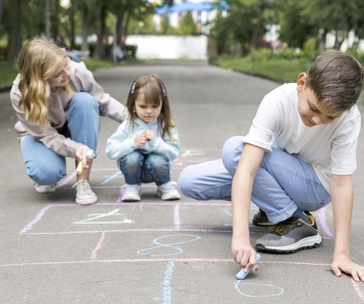 Jogos com a família.