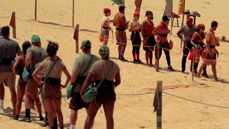 Participantes de No Limite, disputam Prova de Imunidade, Calango é desclassificado (imagem: reprodução)