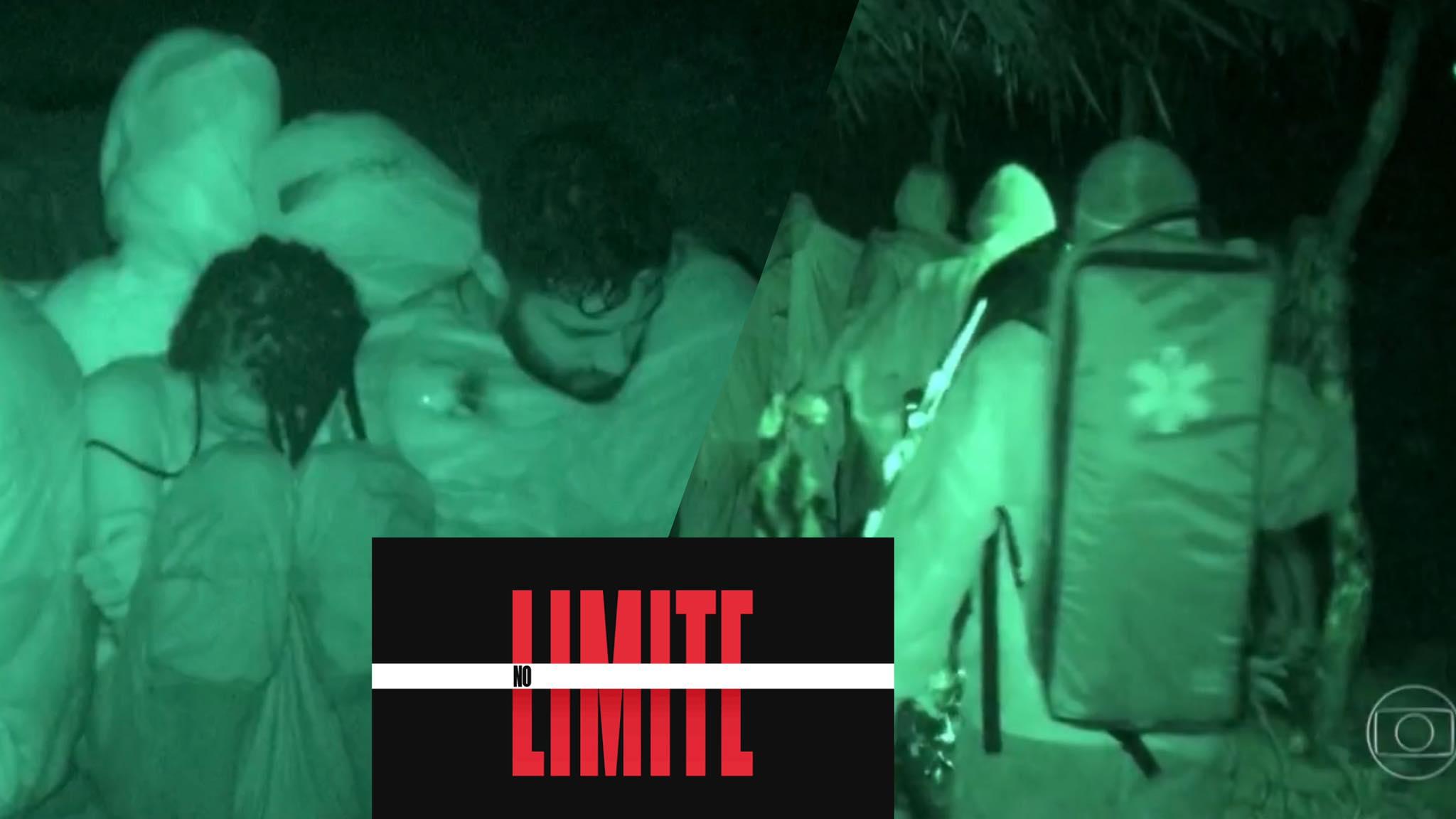 Produção de No Limite teve que prestar socorro nas duas tribos após chuva torrencial (montagem: Fashion Bubbles)