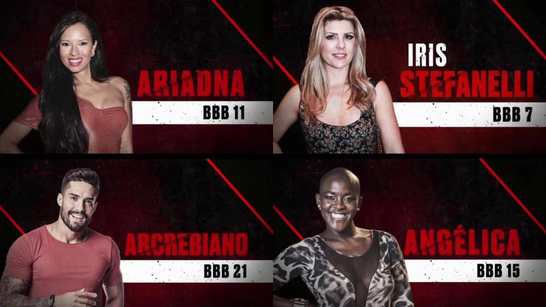 Ariadna, Íris Stefanelli, Arcrebiano e Angélica são os próximos a deixarem o No Limite, segundo o site (montagem: Fashion Bubbles)