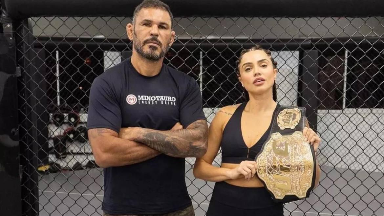 Minotauro treinou Paula para aguentar o desafio de No Limite (imagem: Instagram)