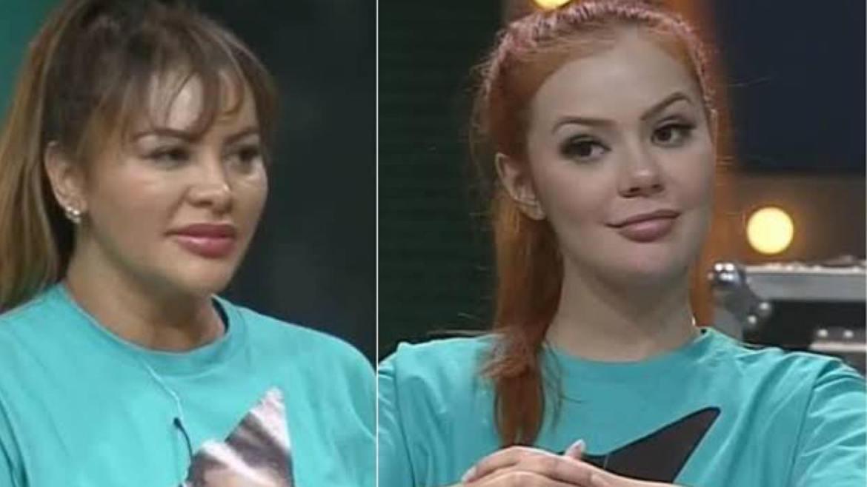 A cantora Márcia e a digital influencer Mirela se estranharam no jogo (imagem: Divulgação)