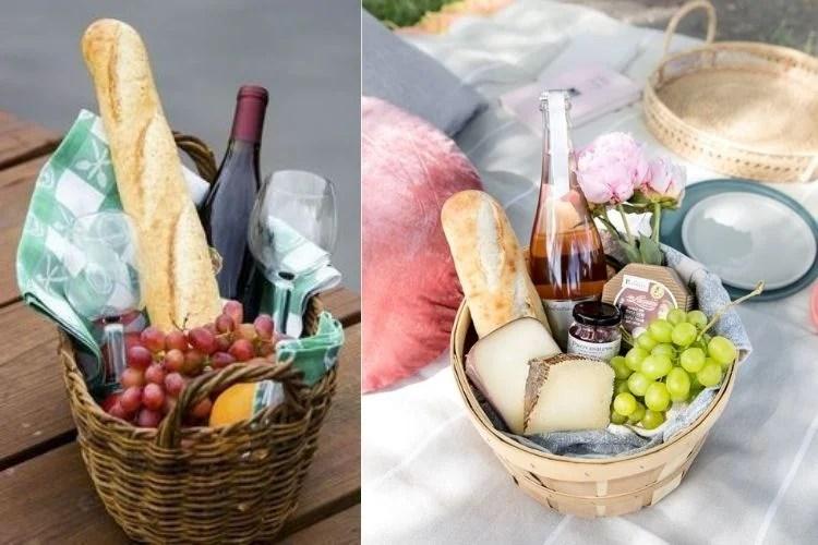 cesta para o Dia dos Namorados de piquenique