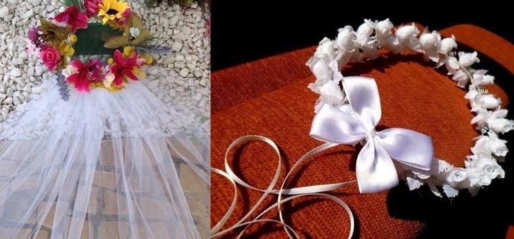 coroa de noiva festa junina