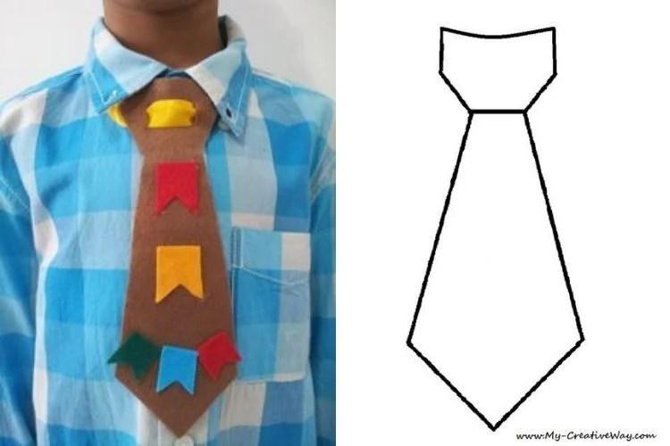 molde gravata de festa junina