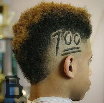 Corte de cabelo com número 100