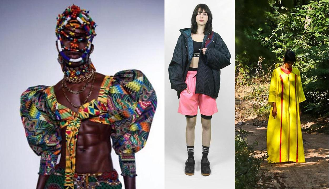 Três looks apresentados na São Paulo Fashion Week