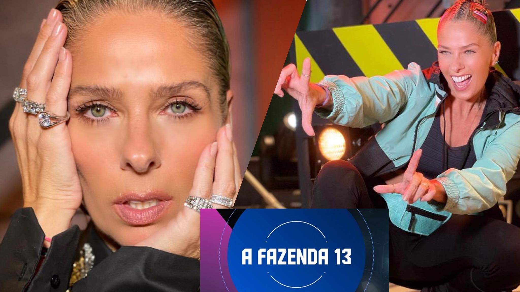 Adriane Galisteu traz mais força à Fazenda 13 após ser confirmada como apresentadora (montagem: Fashion Bubbles)