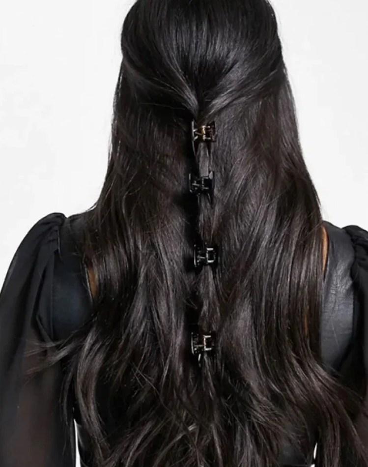forma fácil de usar piranha em cabelo longo