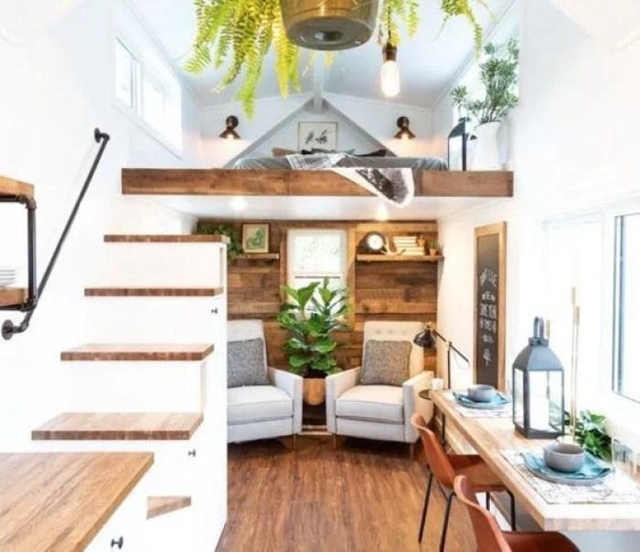 Casa loft simples rústica.