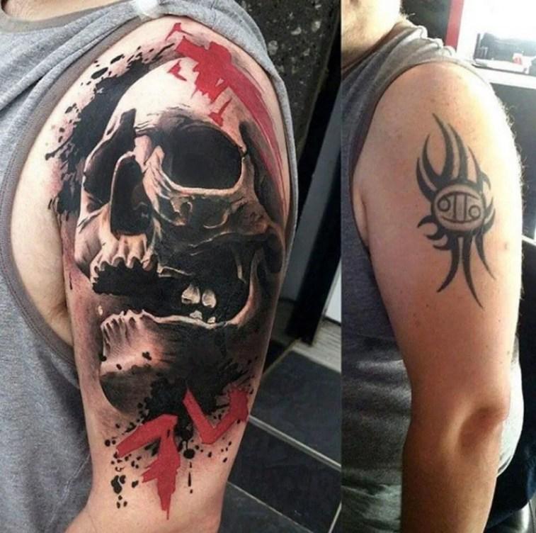Cobrir tatuagem no ombro e braço