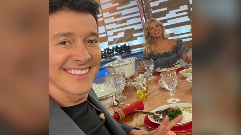 Rodrigo Faro divulga foto em almoço marcante com Eliana (imagem: Instagram)