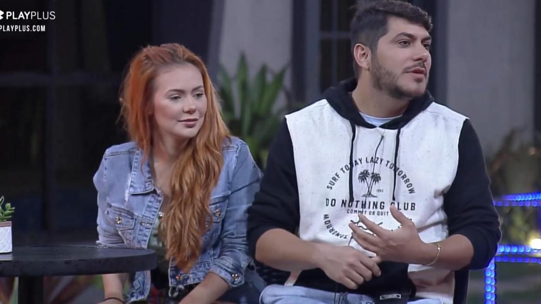 Mirela Janis e Yugnir aproveitam a herança deixada por Pimpolho e Bibi no Power Couple (imagem: reprodução)