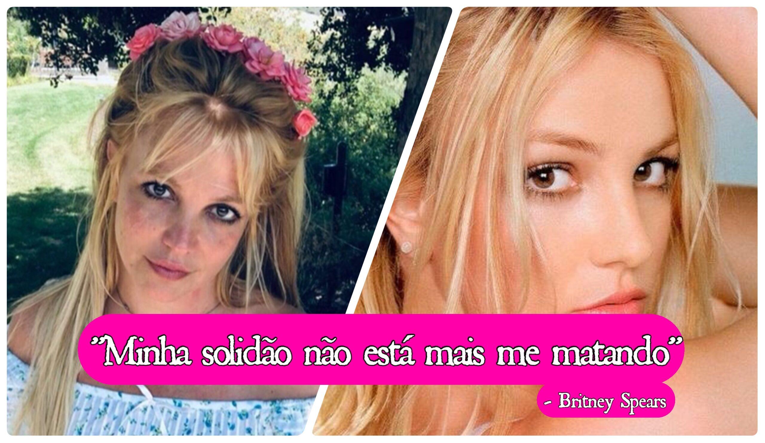 Foto e frase citada por Britney Spears.