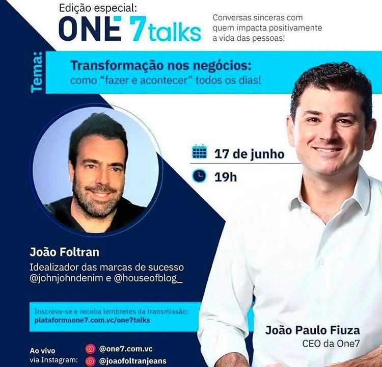 Imagem promocional do webinar gratuito da One7 com João Foltran.