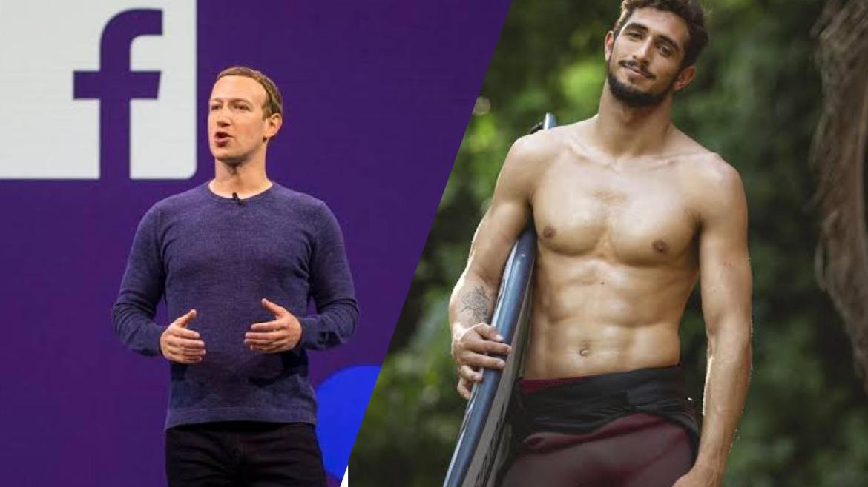 Lucas é seguido das redes pelo fãs famoso, Mark Zuckerberg criador do Facebook (montagem: Fashion Bubbles)