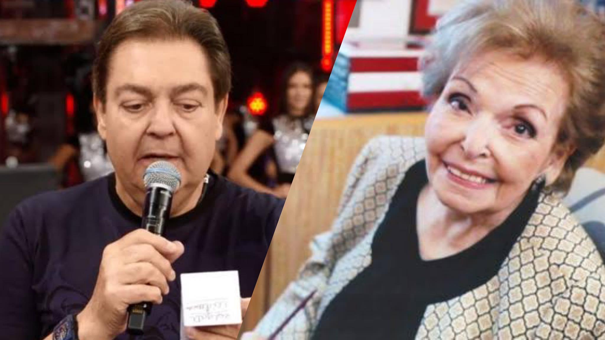 Cordélia Silva, mãe de Faustão morreu aos 95 anos (montagem: Fashion Bubbles)