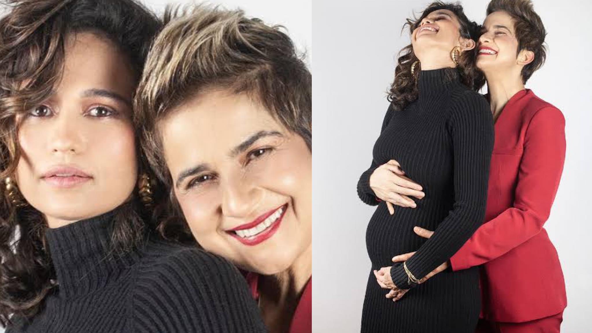 Nanda Costa e Lan Lahn estão grávida de gêmeas (montagem: Fashion Bubbles)