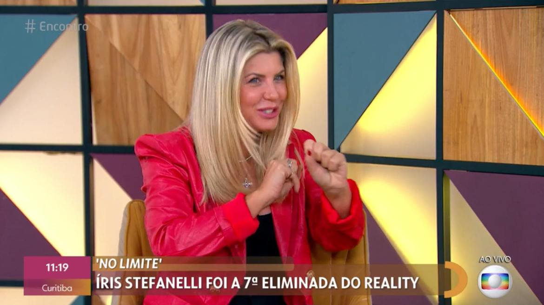Íris conta bastidores de No Limite para Fátima Bernardes (imagem: reprodução/ Globo)