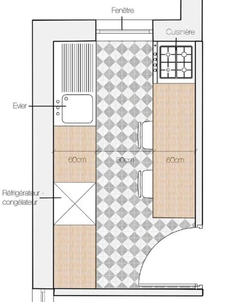 Cozinha de apartamento.