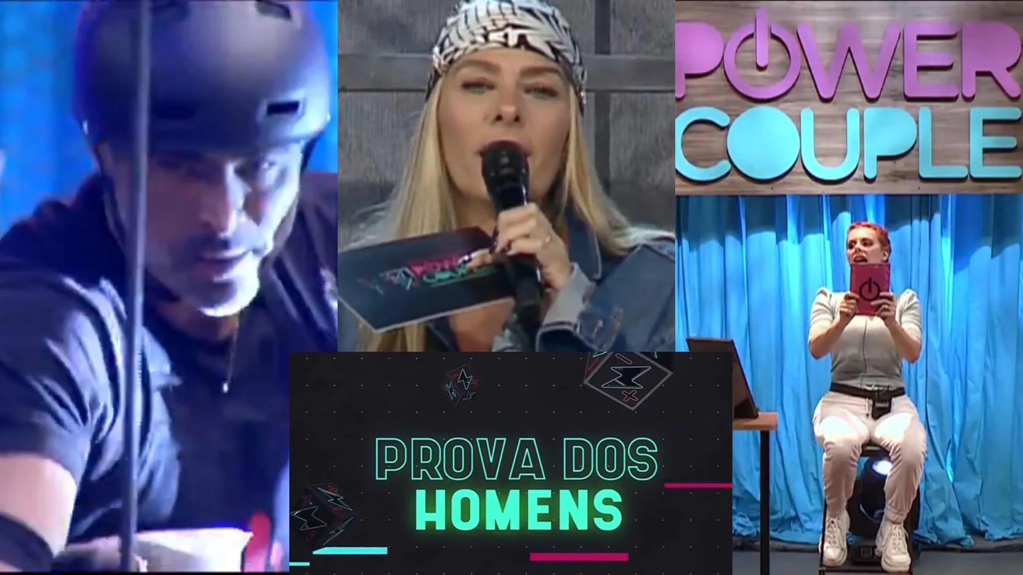 Adriane Galisteu comanda a 6ª Prova dos Homens no Power Couple (montagem: Fashion Bubbles)