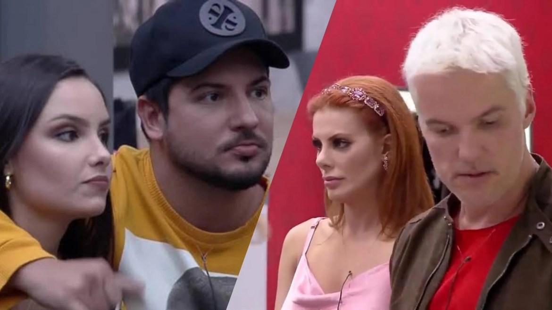 Geórgia e Thiago  criticam o comportamento de Deborah e Bruno no Power Couple (montagem: Fashion Bubbles)
