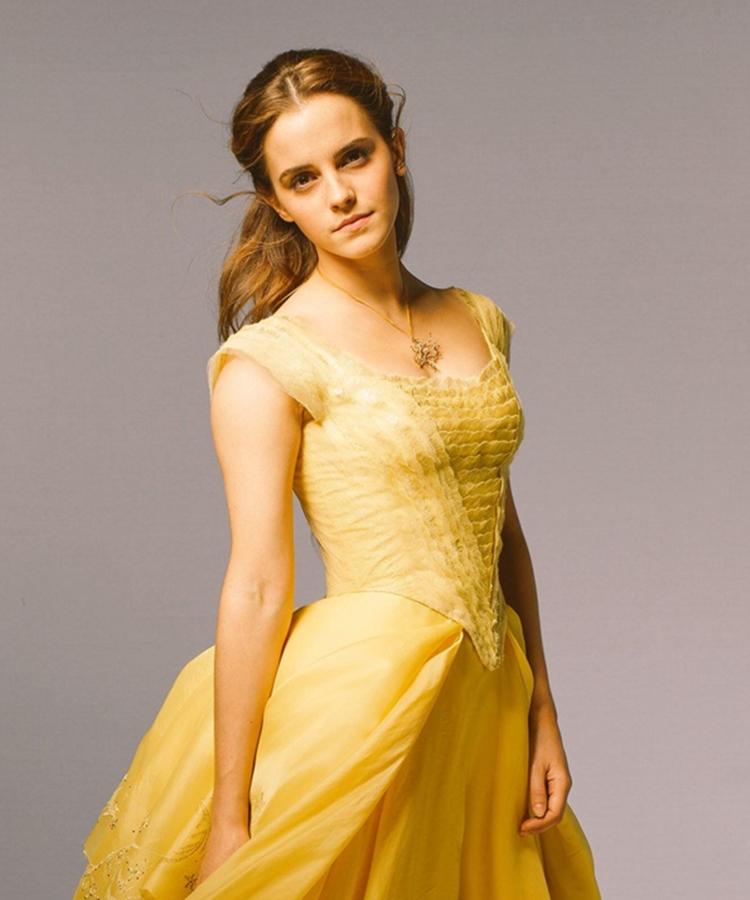 Foto de Emma Watson como Bela.