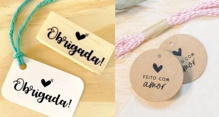 Duas opções de etiqueta para produtos artesanais