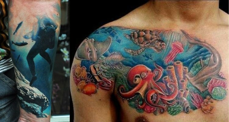 tatuagens de recife de coral