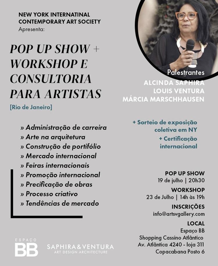 folder do Pop Up Show + Workshop Edição Rio de Janeiro