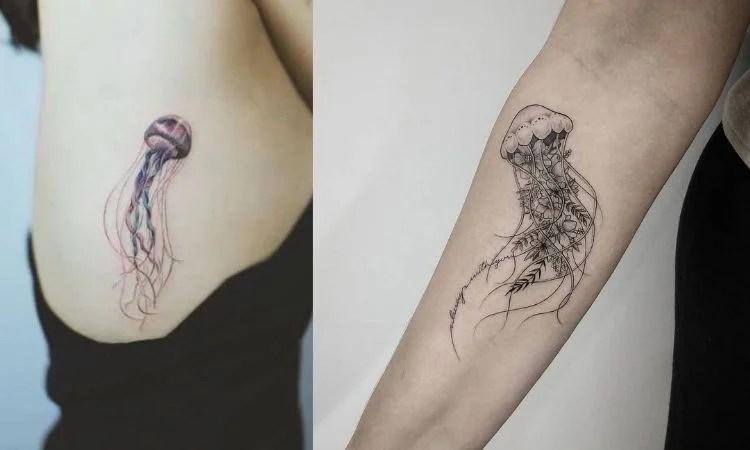tatuagem de água-viva