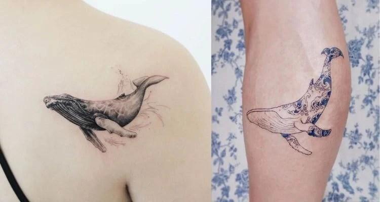tatuagens de baleias
