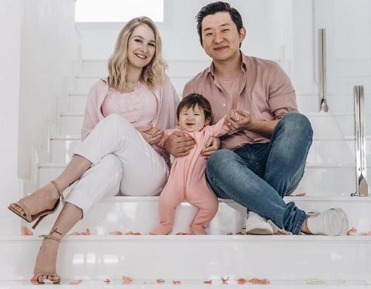 Foto de Pyong e sua família
