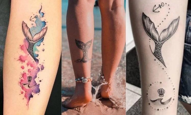 tatuagem de cauda de sereia