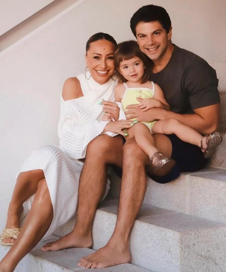 Foto de Sabrina Sato com a família
