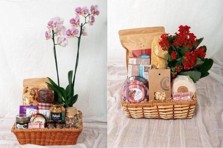 vasos de flores em presente para avós