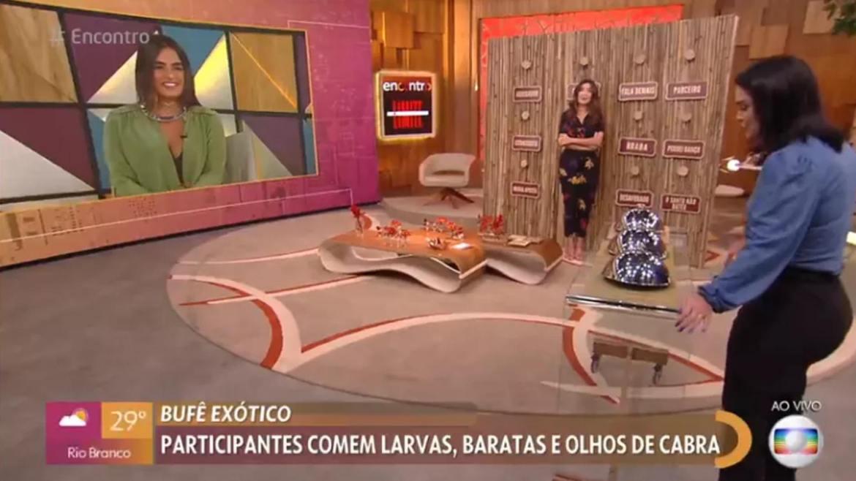 Carol Peixinho participa do Encontro com Fátima. Fonte: Reprodução/Globo