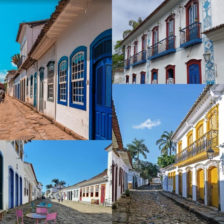 Fotos com a arquitetura da cidade.