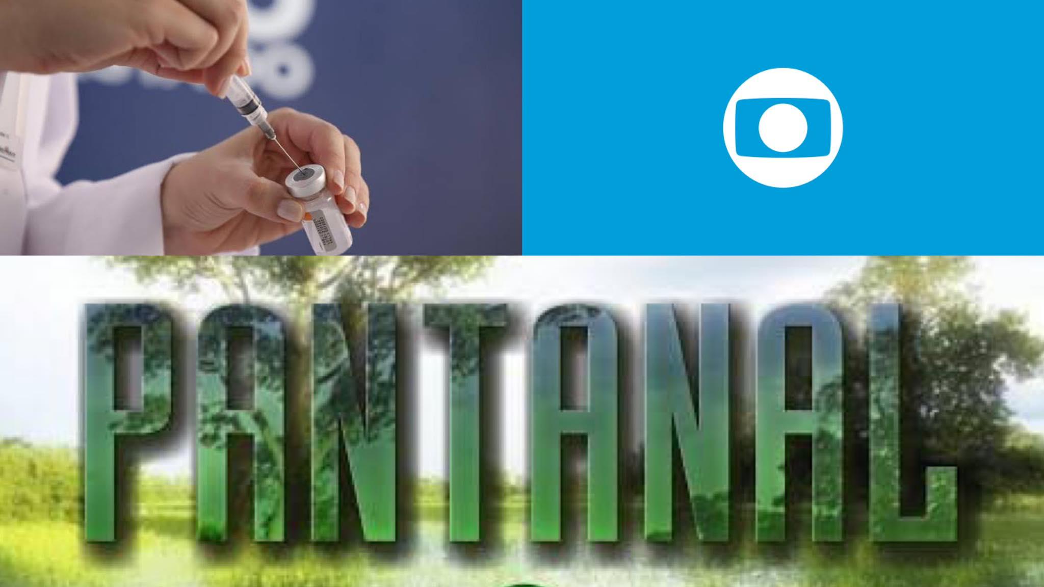 Ator da Globo pode perder papel em Pantanal após se recusar a tomar vacina contra Covid-19. Fonte: Montagem/ Fashion Bubbles
