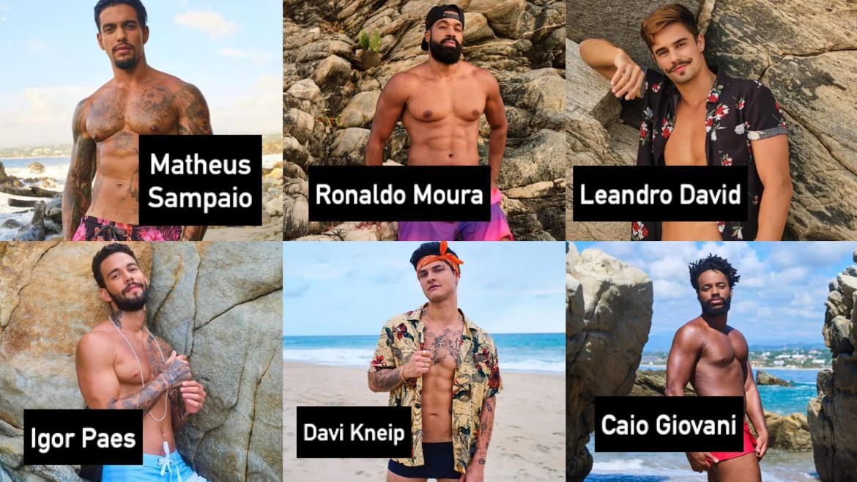 Elenco masculino do Brincando com Fogo Brasil da Netflix. Fonte: Divulgação