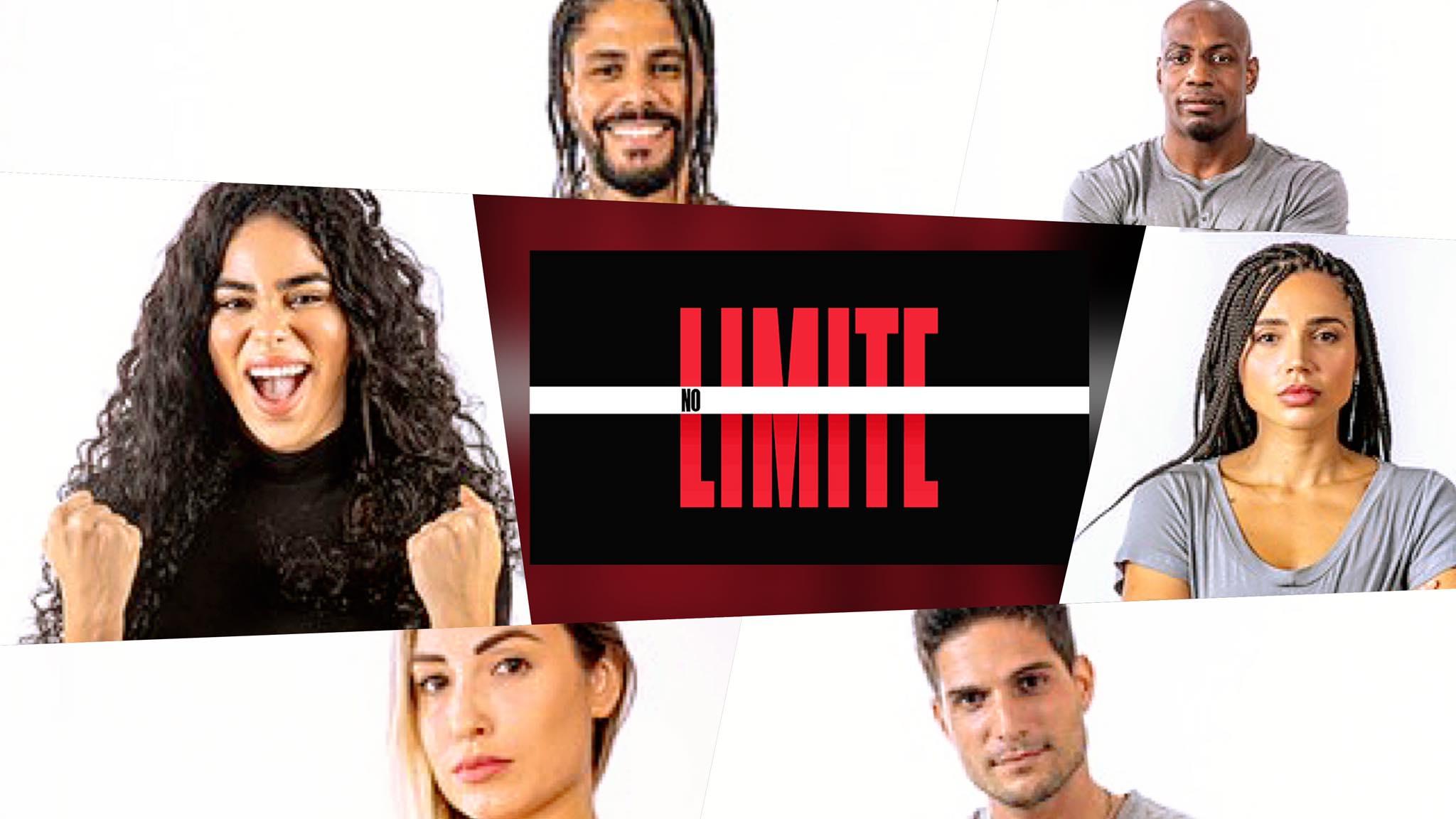 Elana, Ana Paula, Jessica, Zulu, André e Viegas estão na final de No Limite. Fonte: Montagem/ Fashion Bubbles
