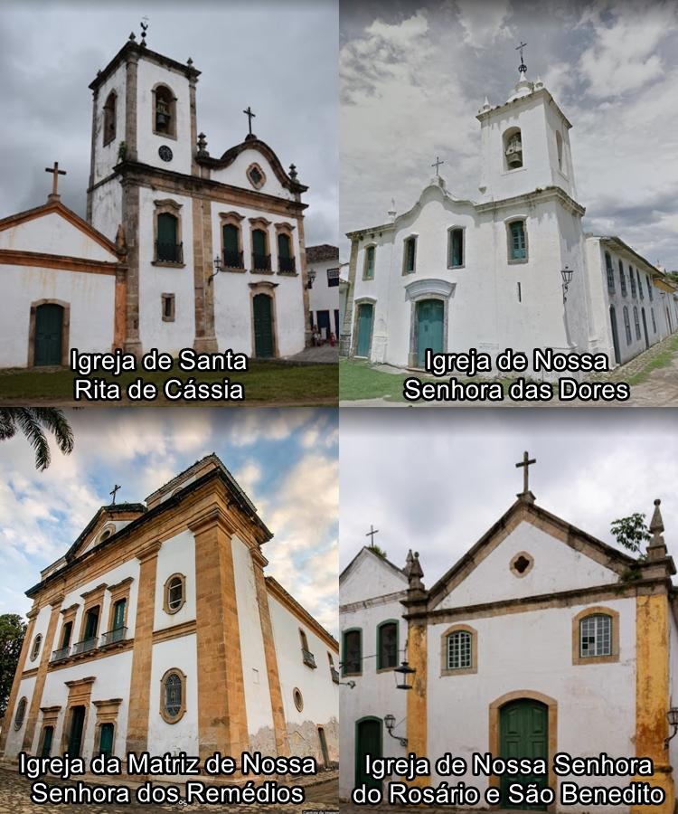 Foto com as Igrejas.