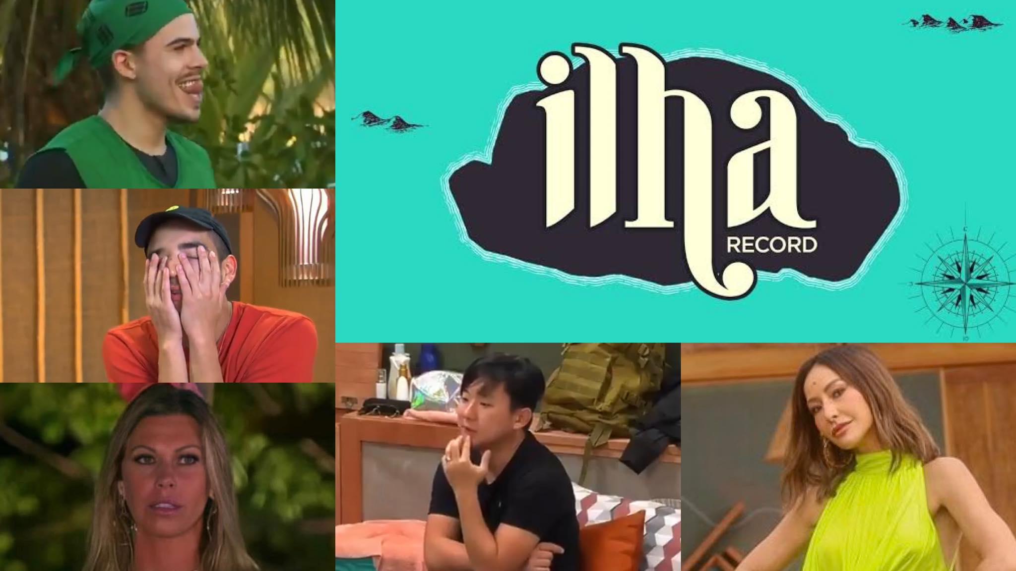 Ilha Record estreia com rivalidade e intriga na tela da Record. Fonte: Montagem/ Fashion Bubbles