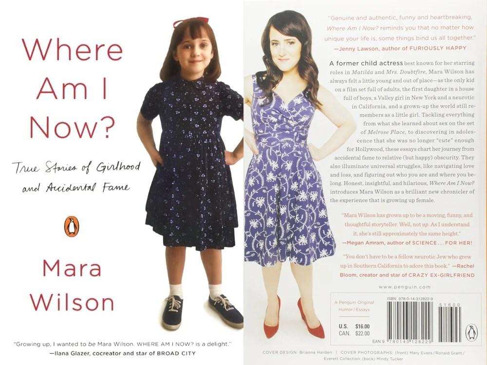 Foto da capa e contracapa do livro de Mara Wilson.