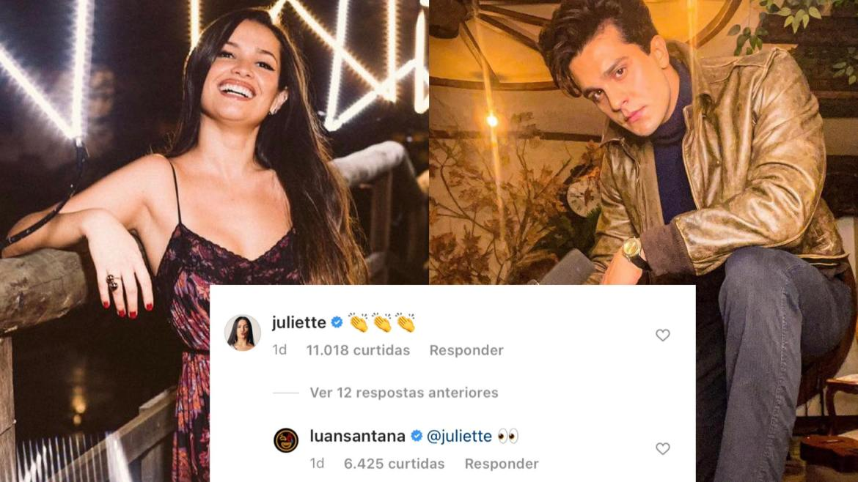 Luan Santana também interagiu com resposta de Juliette. Fonte: Montagem/ Fashion Bubbles