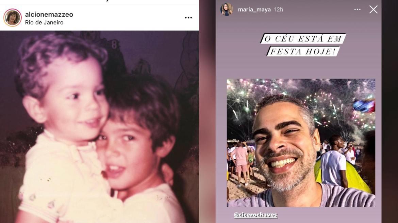 Cícero Chaves recebe homenagens de familiares (montagem: Fashion Bubbles)