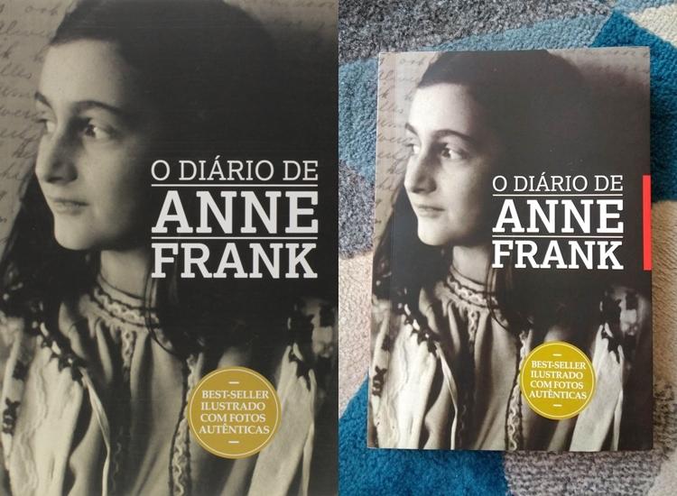 Foto do livro O Diário de Anne Frank.